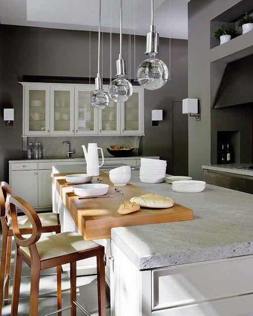 szare ściany w kuchni,projekt kuchni pomysły Pinterest