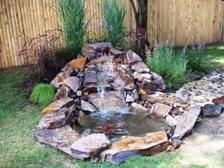 Small pond waterfall ideas pond waterfall picture for Do it yourself fish pond
