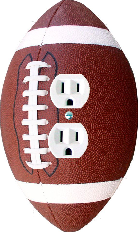 Football shaped wall plates FREE SHIPPING Light by ColoRiffic