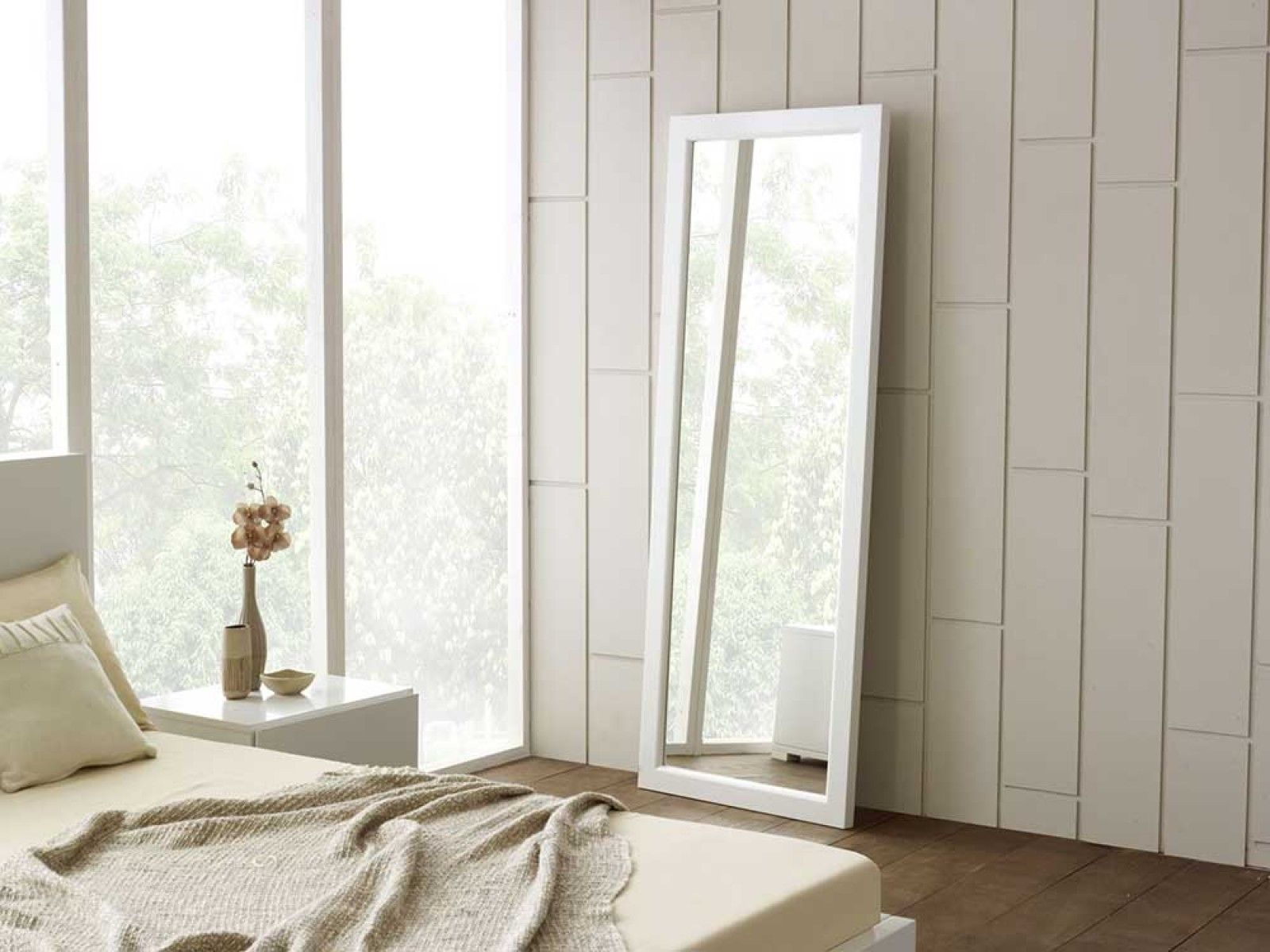 Full Length Mirror White Wall Mirrors White Floor Mirror Mirror Wall