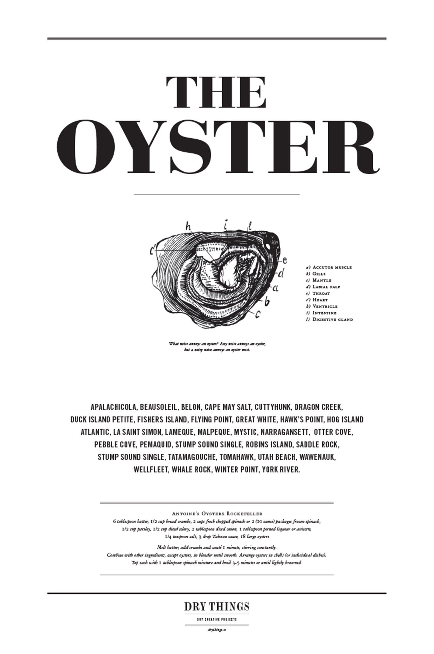 Dry things - Poster Kitchen Oyster large-2   Words & Posters / Ord ...