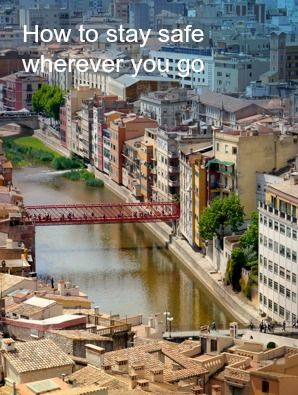 """View of Girona from the Cathedral - Venice of Spain """"How to stay safe wherever you go"""" http://solotravelerblog.com/2014-solo-travel-destinations-how-to-be-safe-wherever-you-go/"""