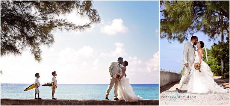 family wedding in the cayman islands shot by Rebecca Davidson. dinosaur tails from etsy