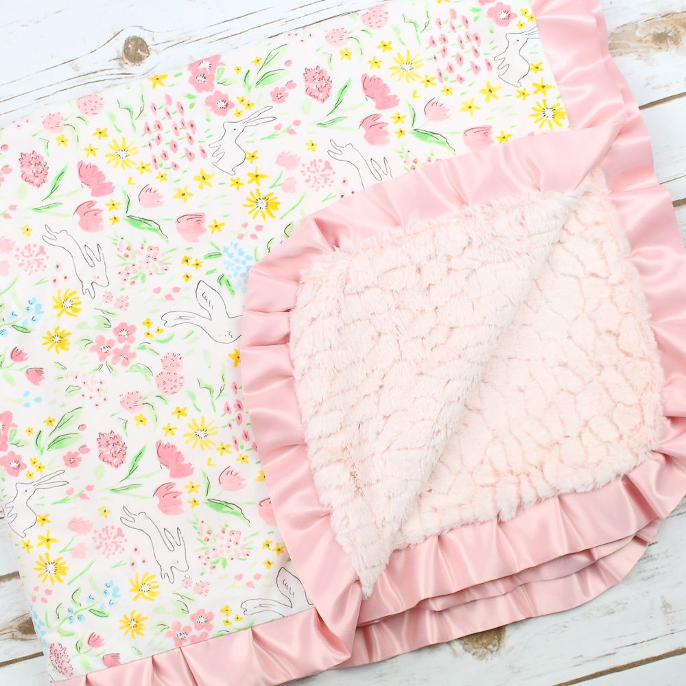 Spring Bunny Minky Blanket Luxe baby, Toddler clothing