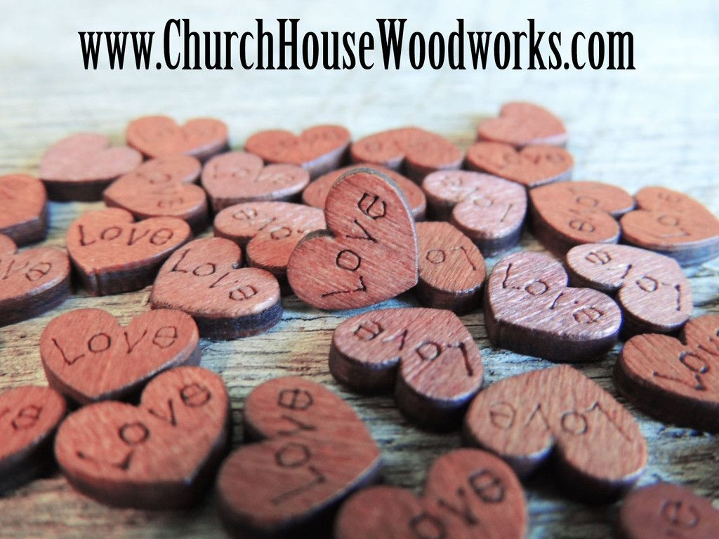 100 Mini Love Wood Hearts | Barn Weddings | Pinterest | Confetti ...