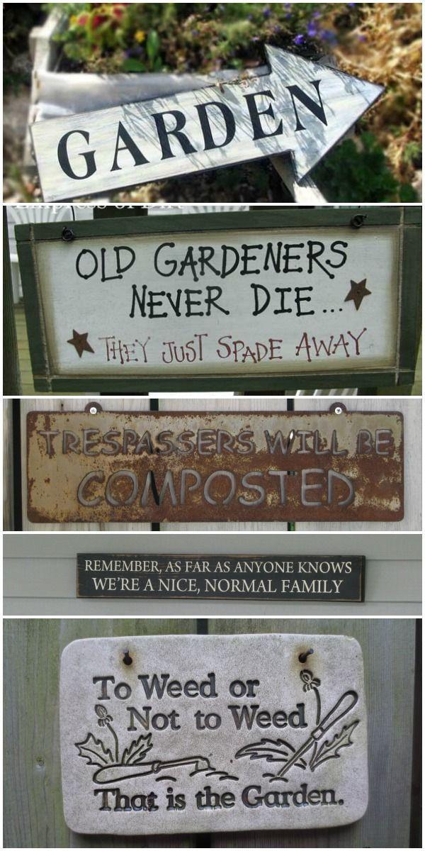 Garden Sign Idea Gallery