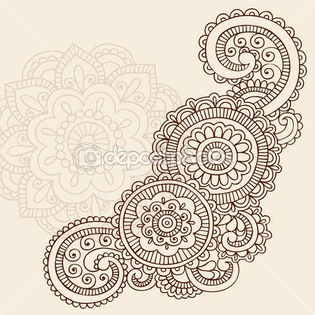 Henna Mehndi Paisley- embroidery for quilt | Quilting | Pinterest ...