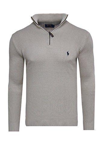 Polo ralph lauren pull zipper pull en tricot beige taille s m l xL ... 8dced11d18c
