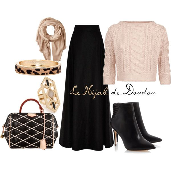 Hijab Outfit by le-hijab-de-doudou on Polyvore featuring Weekend Max Mara Rosie Assoulin Louis ...