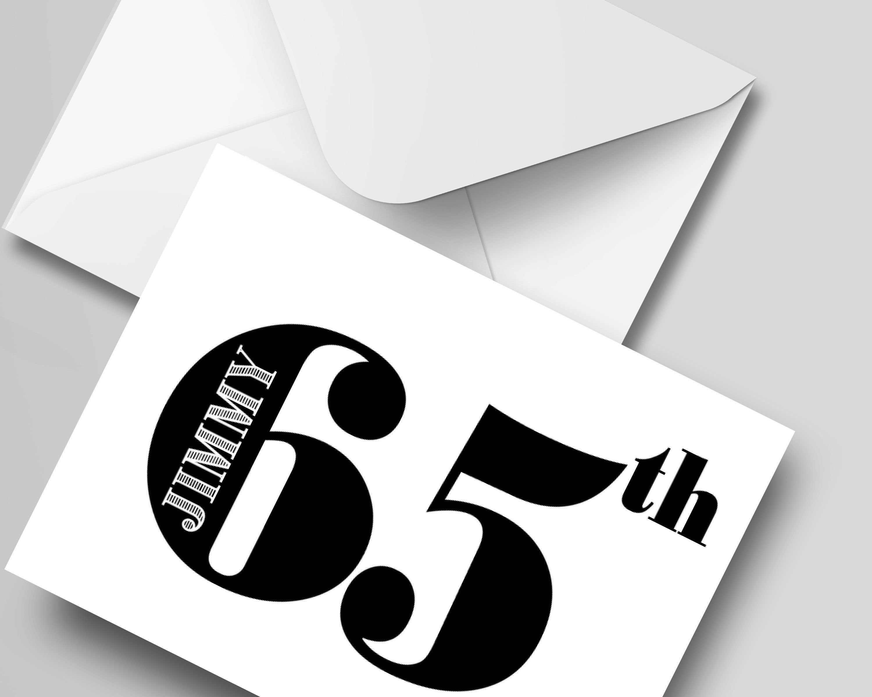 65th Birthday Card With Name Personalised Card For Any Age Etsy Birthday Card With Name 65th Birthday Cards 65th Birthday