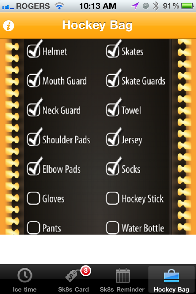 A Checklist To Make Sure You Have Packed Everything In Your Hockey Bag Hockey Bag Hockey Mom Hockey Stick