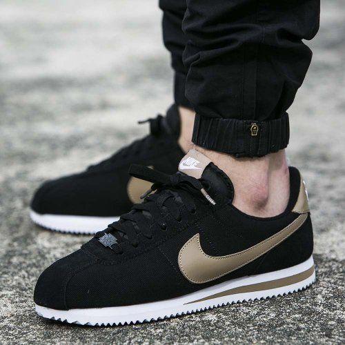 Nike Cortez Basic Premium Qs Black Nike Shoes Sneakers Men Fashion Mens Nike Shoes