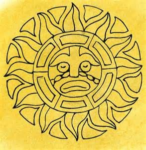 Aztec Sun Coloring Page Yahoo Image Search Results Sun