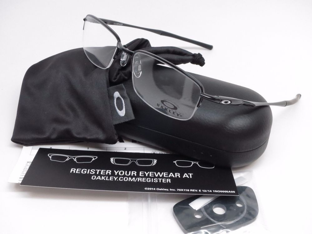 09f866a6d6c Oakley Clubface Eyeglasses Product Info   Brand   Oakley Model Number    OX3102-0152 Model Name   Clubface Frame Color   Polished Black Lens Color    Clear ...