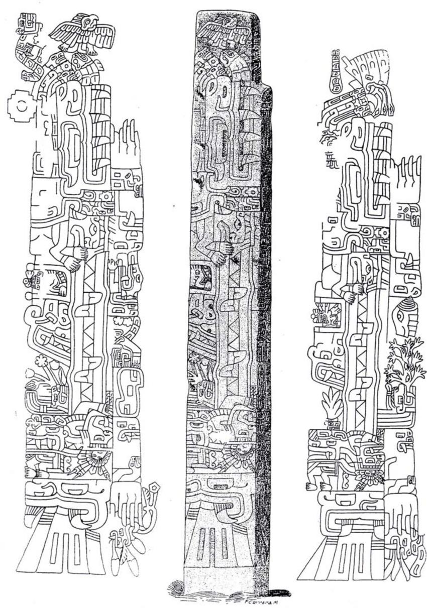 9 Obelisco Tello Representacion De Dos Caimanes Macho Y Hembra South American Art Aztec Pictures American Art