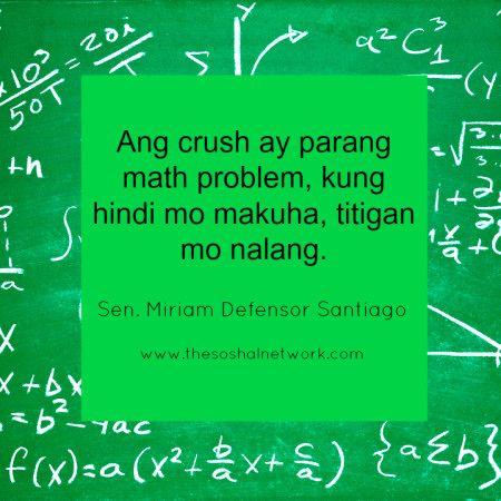Hugotlines Ni Senmiriam Ang Crush Ay Parang Math Problem Kung