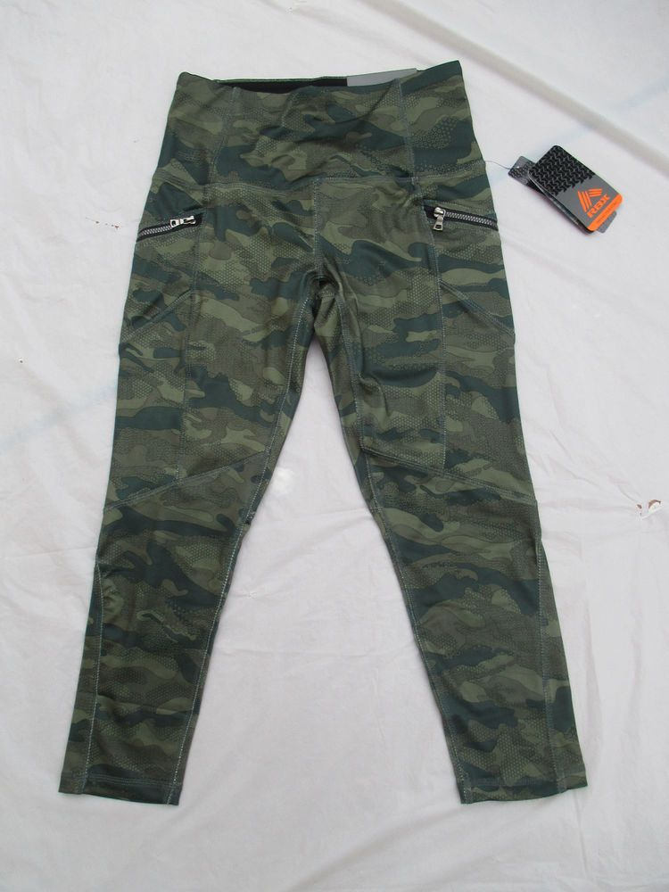5ef7ec81c Leggings Legging RBX Capri Length Color Camo Green Combo Style CR6390 Brand  New  RBX  LeggingCapri