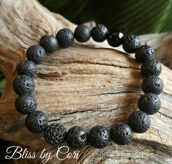 7680bc326bfb7 Lava Bead Bracelet