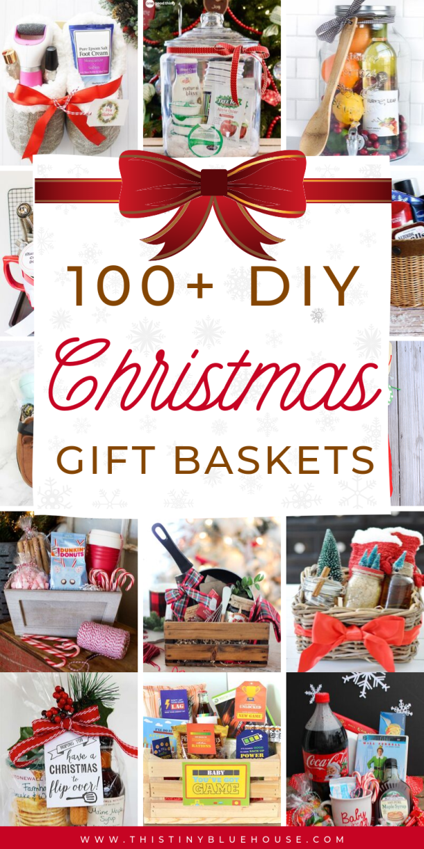 100+ Fun Festive DIY Christmas Gift Basket Ideas - This Tiny Blue House
