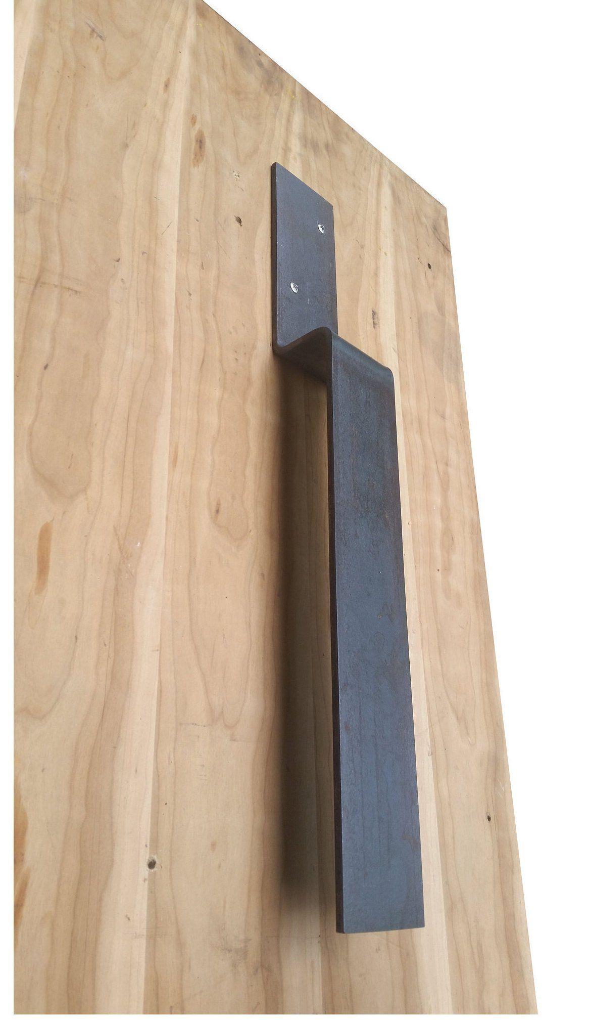 Industrial Door Handle 24 Inch Oversized Barn Door Pull 3 Inch Wide Modern Rustic Door Handles Wrought Iron Railing Firewood Stand