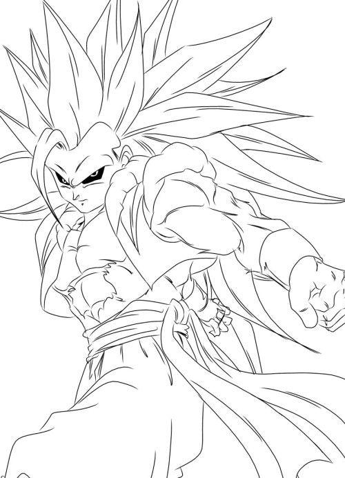 Gogeta Dragon Ball Super Saiyan 3 Coloring For Kids Super Coloring Pages Dragon Ball Super Dragon Ball