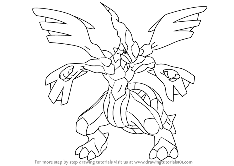 Learn How To Draw Zekrom From Pokemon Pokemon Step By Step Drawing Tutorials Drawings Pokemon Coloring Pages Pokemon