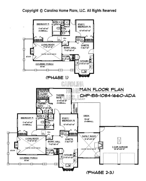 Build-in-Stages Small House Plan BS-1084-1660 Sq Ft | Small ...
