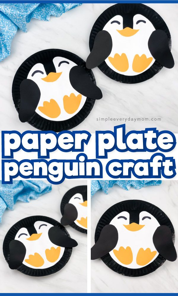 This easy and fun paper plate penguin craft is a simple winter craft idea for kids! It's easy enoug