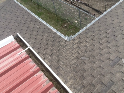 Deteriorated Valley From Water Run Off Roof Maintenance