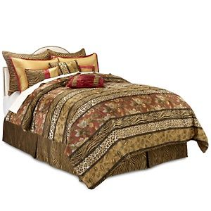 Highgate Manor Serengeti 10 Piece Comforter Set At Hsn Com Comforter Sets Queen Size Bedding Bedding Sets