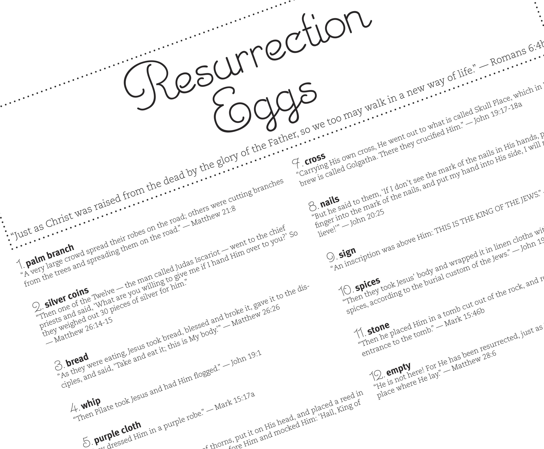 Free Resurrection Eggs Printable From Lifeway