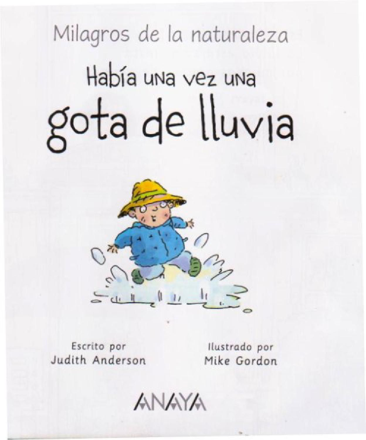 Había Una Vez Una Gota De Lluvia Language Education Books Digital Publishing