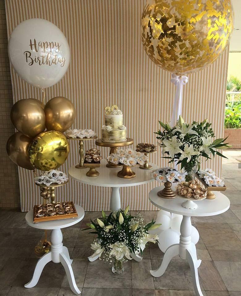 Fiesta dorada decoraci n fiestas infantiles en 2019 - Mesa cumpleanos adulto ...