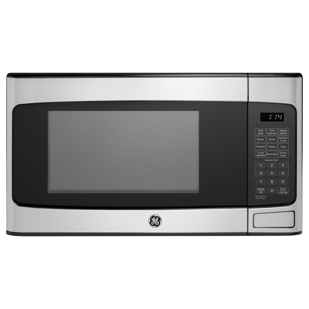 GE 1.1 cu. Ft. Countertop Microwave in Stainless Steel