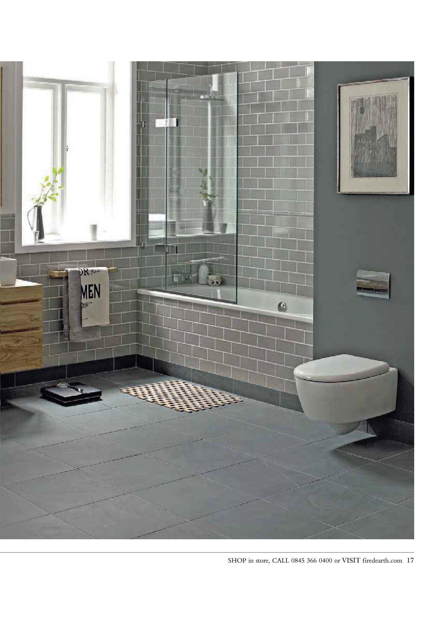 Gray Bathroom Perfect Sanctuary Retro Metro Holland Park Tiles Slate Floor Geo Square Basins Logic Built Grey Bathrooms Bathroom Design Bathroom Plans