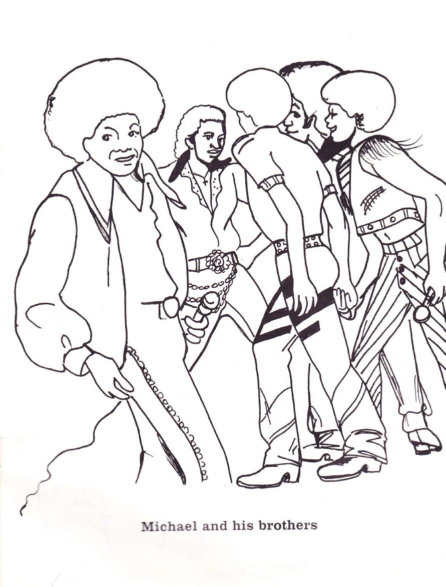 Jackson 5 Coloring Pages