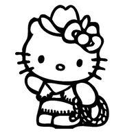 Zombie Hello Kitty Face Decal Hello Kitty Colouring Pages Hello Kitty Drawing Kitty Coloring