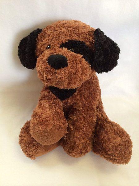 Circo Brown Black Puppy Dog Plush 2011 Animal Adventure Eye Spot
