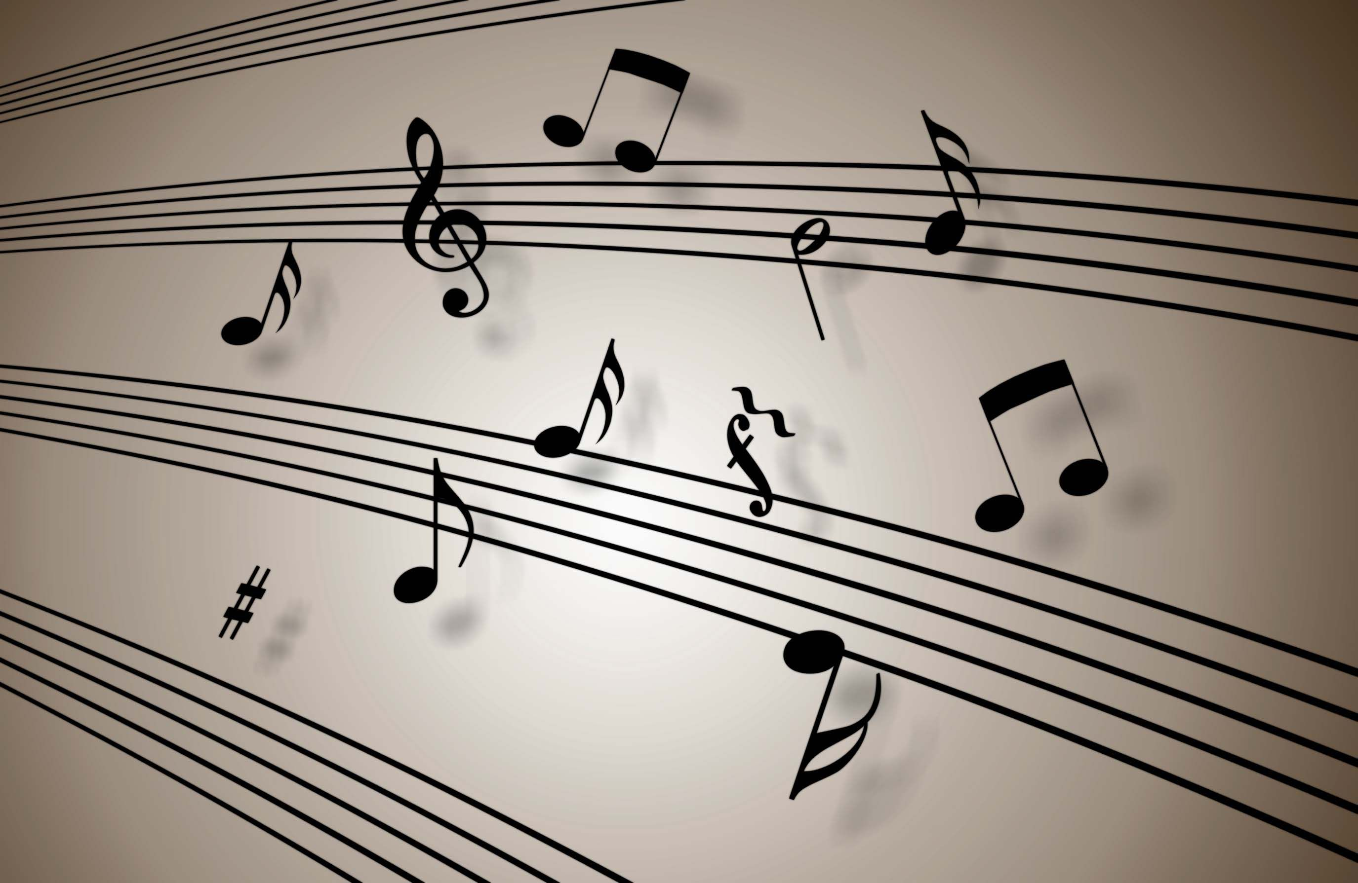 Music Notes Blue Wallpapers Mobile