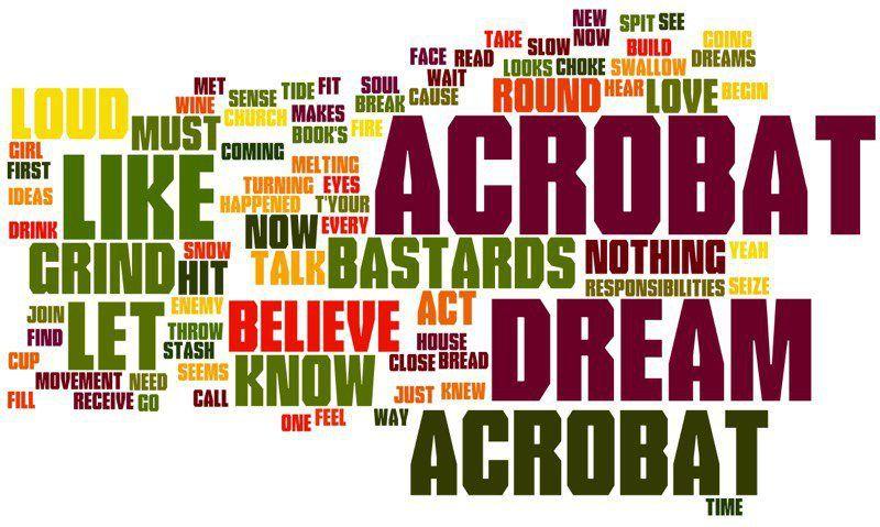 Acrobat lyrics