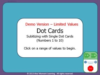 Automated Math Dot Cards – Numbers 1-10 *DEMO*