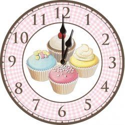 Iced Fancies Cupcake Large Kitchen Wall Clock