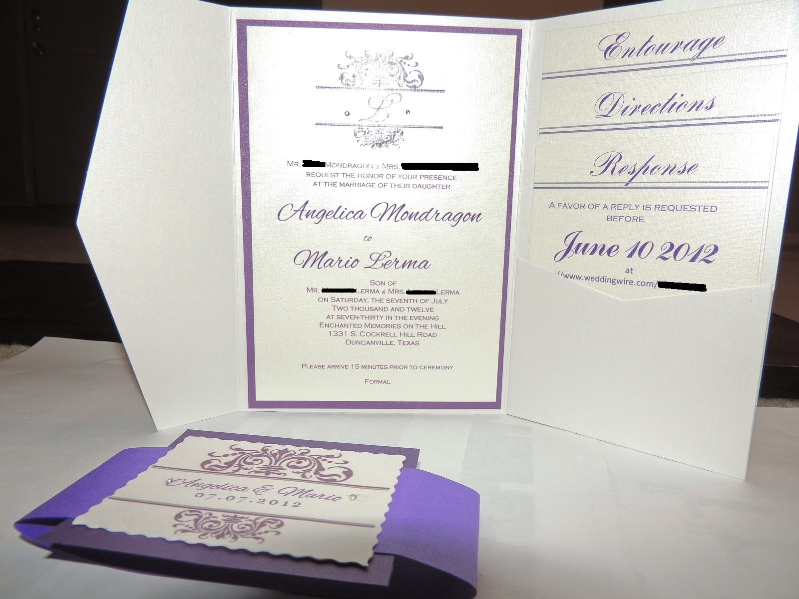 Diy Pocketfold wedding invitation | Wedding Ideas!! :) | Pinterest ...