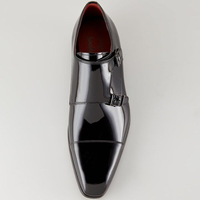 Patent Double-Monk Strap by Magnanni