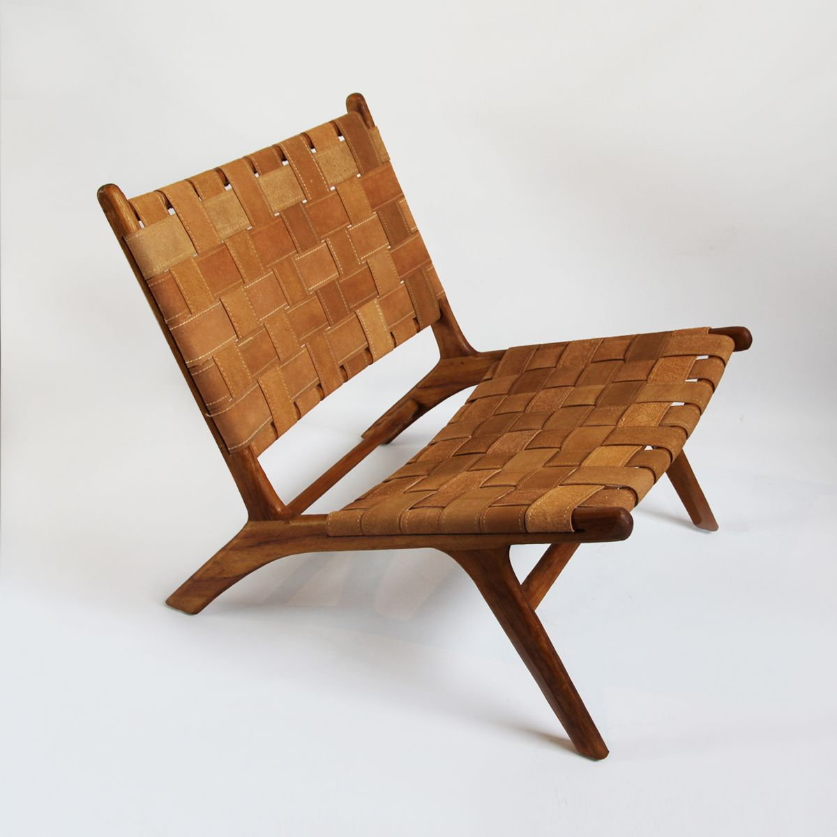 Best Beautiful Wood Lounge Chair With Matching Woven Vegetable 400 x 300