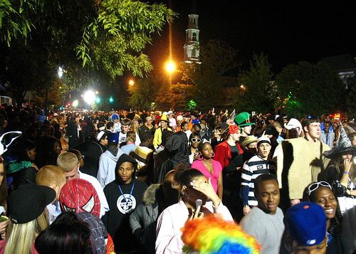 Halloween on Franklin Street is one of the high points of fall semester.