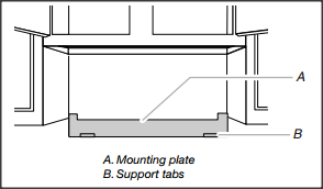 Example Of A Wall Mounted Support Plate For An Over The Range Microwave Installation
