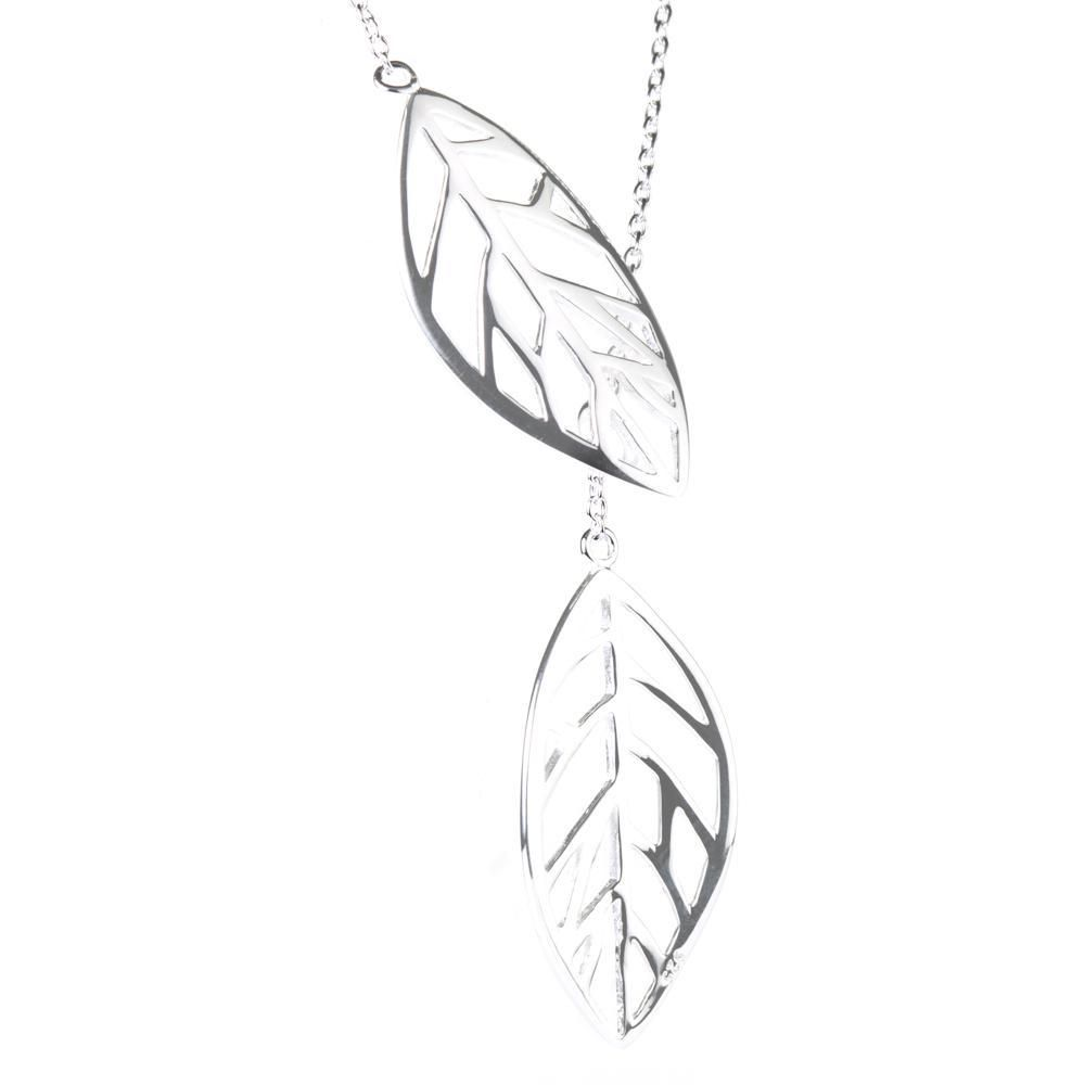 Sterling Silver Thread Through Leaf Lariat Necklace For Just 30 00 925 Sterling Silv In 2020 Lariat Necklace 925 Sterling Silver Chain Sterling Silver Chain Necklace