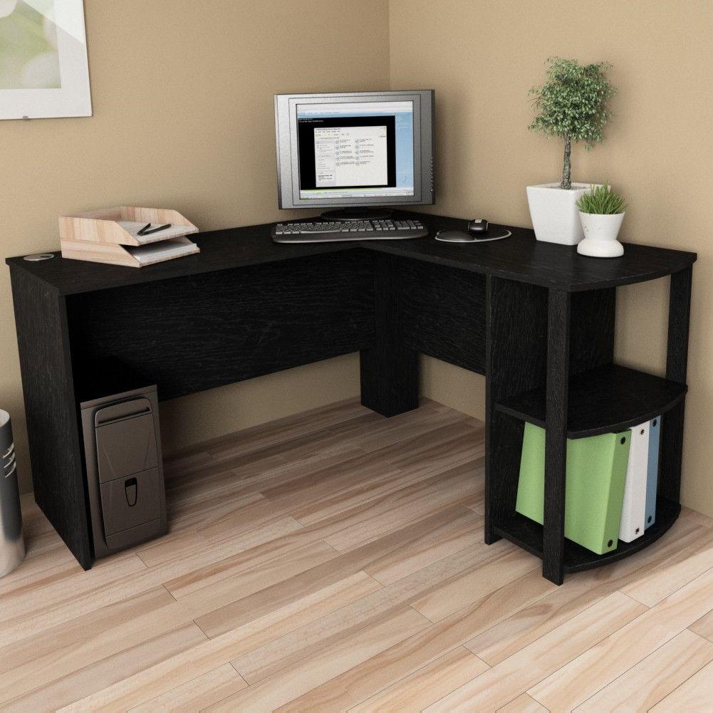 Ameriwood Industries Computer Desk With 2 Shelves L Shaped Corner Desk Secretary Desk Design Home Office Desks