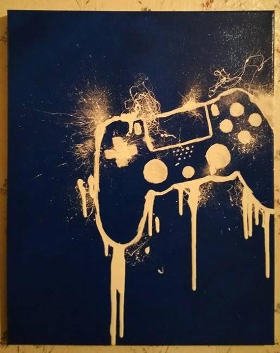 Video Gaming Custom Canvas 16X20 Wall decor Ready to Hang Gamer Art black friday man cave